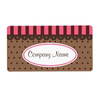 Etiquetas retras del negocio del chocolate etiquetas de envío
