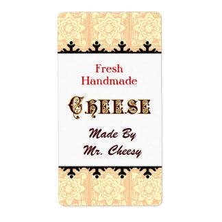 Etiquetas retras del personalizado del queso etiquetas de envío