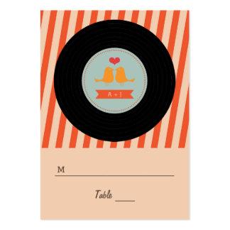 Etiquetas retras modernas del acompañamiento de lo plantilla de tarjeta personal