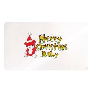 Etiquetas rojas de la almohada del oso de peluche tarjeta de negocio
