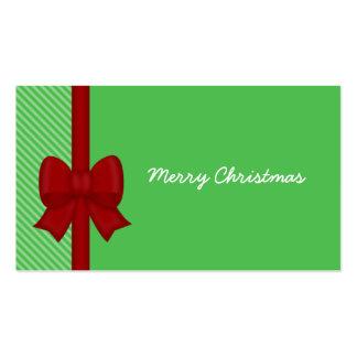 Etiquetas rojas del regalo del arco del día de tarjetas de visita