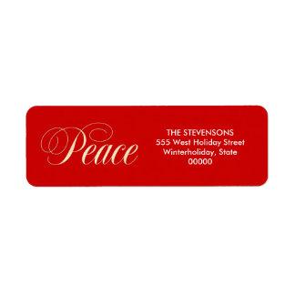 Etiquetas rojas del remite del día de fiesta etiqueta de remite