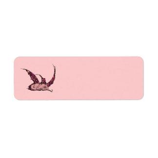 Etiquetas (rojas) el dormir Dragonette Etiqueta De Remitente