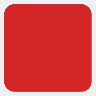 Etiquetas rojas en blanco del artículo de tocador pegatina cuadrada