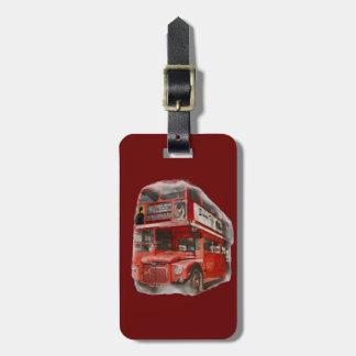 Etiquetas rojas viejas del bolso del viaje del aut etiquetas de maletas