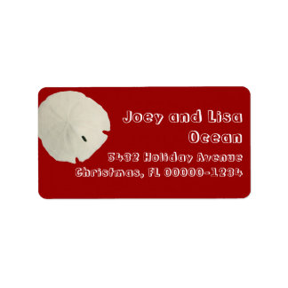 Etiquetas rojas y blancas del tema tropical de are etiquetas de dirección