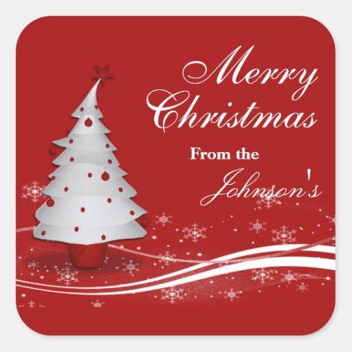Etiquetas rojas y blancas festivas del regalo del