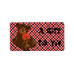 Etiquetas rojas y negras del regalo del tartán etiquetas de dirección