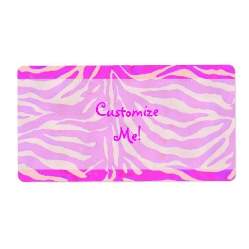 Etiquetas rosadas adaptables de las rayas de la ce etiquetas de envío