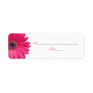 Etiquetas rosadas de la tarjeta del lugar del boda etiqueta de remite