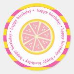 Etiquetas rosadas del favor de la limonada, pegati