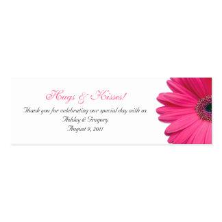 Etiquetas rosadas del favor de la ocasión especial tarjeta de visita