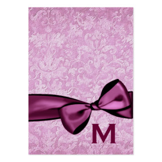 Etiquetas ROSADAS del regalo de boda del damasco o Tarjetas De Visita Grandes