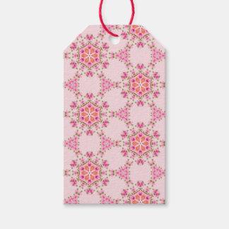 Etiquetas rosadas del regalo de los copos de nieve etiquetas para regalos