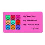 Etiquetas rosadas del remite de los signos de la p etiqueta de envío