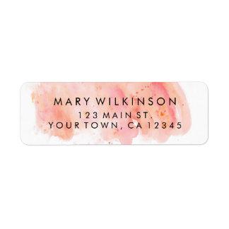Etiquetas rosadas del remite del fondo de la etiqueta de remitente