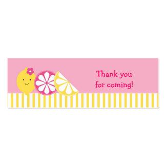 Etiquetas rosadas dulces del bolso de Goodie de la Tarjetas De Visita