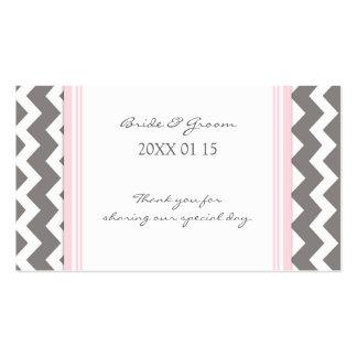 Etiquetas rosadas grises del favor del boda de Che Plantillas De Tarjetas De Visita