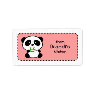 Etiquetas rosadas lindas y femeninas de la hornada etiquetas de dirección