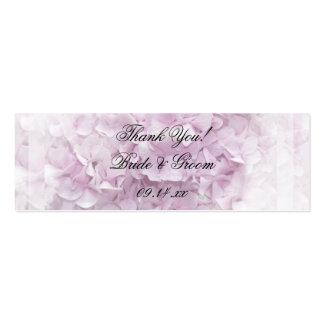 Etiquetas rosadas suaves del favor del boda del Hy Tarjeta De Visita