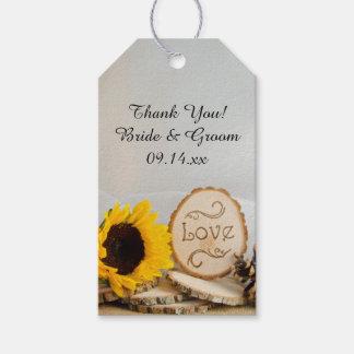 Etiquetas rústicas del favor del boda del arbolado etiquetas para regalos