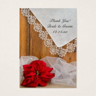 Etiquetas rústicas del favor del boda del invierno tarjetas de visita grandes