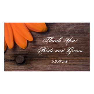 Etiquetas rústicas del favor del boda del país de tarjetas de visita