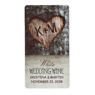 etiquetas rústicas del vino del boda del vintage etiqueta de envío