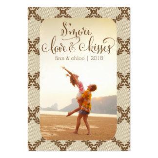 Etiquetas Smores del favor del amor y de los besos Tarjeta Personal