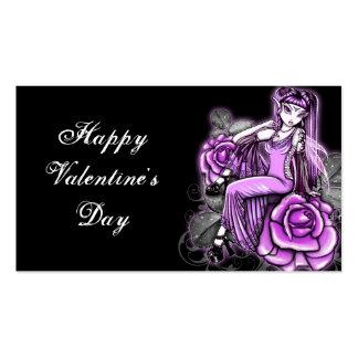 Etiquetas subiós día de San Valentín rosado del re Plantilla De Tarjeta Personal