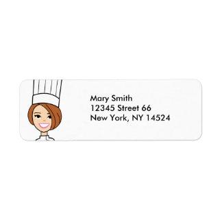 Etiquetas triguenas del remite del panadero etiqueta de remitente