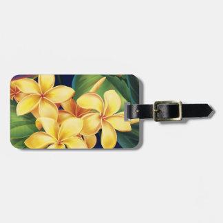 Etiquetas tropicales del equipaje del Plumeria del Etiquetas Maleta