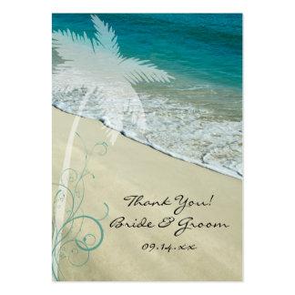 Etiquetas tropicales del favor del boda de playa tarjeta de visita