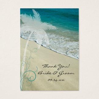 Etiquetas tropicales del favor del boda de playa tarjetas de visita grandes