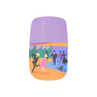 Etiquetas urbanas retras del arte del clavo de la pegatina para uñas