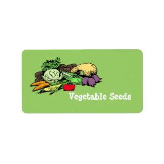 Etiquetas vegetales de la semilla etiquetas de dirección