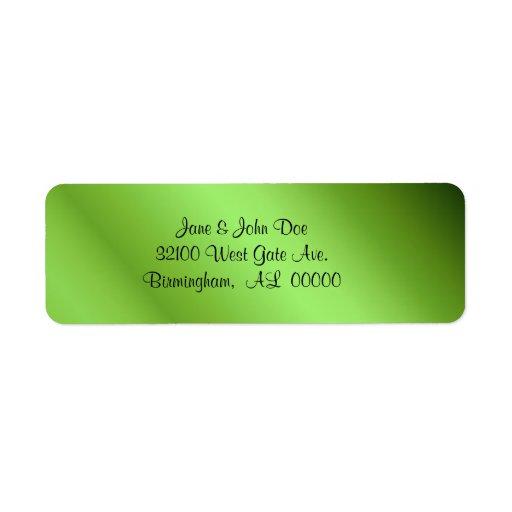 Etiquetas verdes de la mirada de la hoja etiquetas de remite