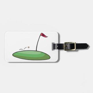 Etiquetas verdes del equipaje del golf etiquetas maleta