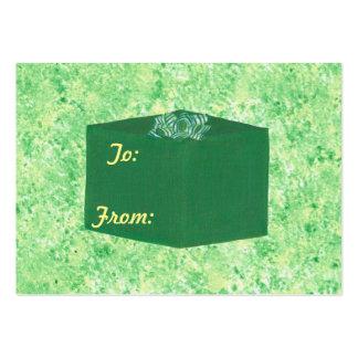 Etiquetas verdes del regalo del regalo de Navidad Tarjetas De Visita Grandes