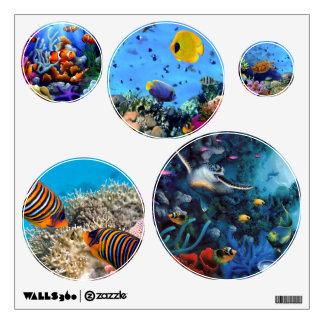 Etiquetas/vida marina de la pared vinilo decorativo
