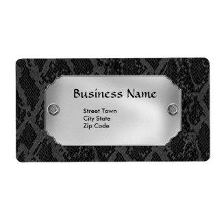 Etiquete el metal elegante del cuero del negocio p etiquetas de envío
