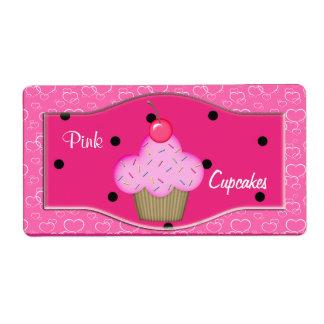 Etiquete las etiquetas rosadas lindas de las magda etiquetas de envío