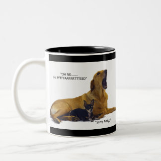Etiquette is to blame the dog Two-Tone coffee mug