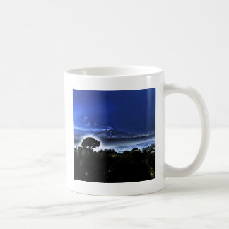 Etna's evening mist coffee mug