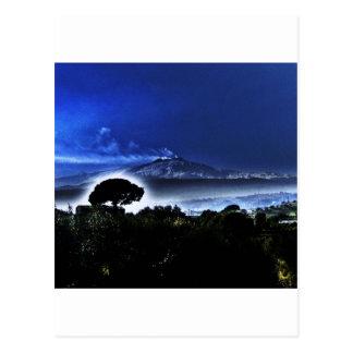 Etna's evening mist postcard