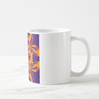 Etnic purple and orange classic white coffee mug
