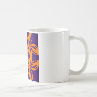 Etnic purple and orange coffee mug