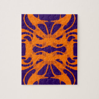Etnic purple and orange jigsaw puzzle