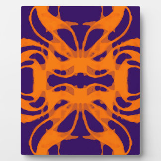 Etnic purple and orange plaque