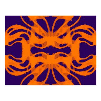 Etnic purple and orange postcard